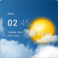 Transparent clock and weather 0.91.01.12